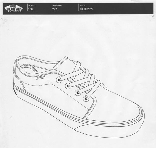 Vans Shoe Designs Drawings